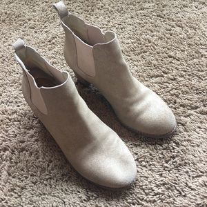 Anthropologie brand suede ankle boots sz 8.5